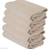 10 X LONG STAIRWAY DUST SHEETS 100% COTTON TWILL DIY 0.9m x 7.3m approx 3' x 24' Dust Sheets & Polythene TPS