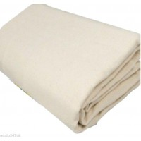 2 x Heavy Weight Bolton twill, 100% COTTON DUST SHEET  CLOSE WEAVE Dust Sheets & Polythene TPS