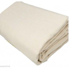 2 x DURABLE THICK BOLTON TWILL, 100% COTTON DUST SHEET  CLOSE WEAVE Dust Sheets & Polythene TPS